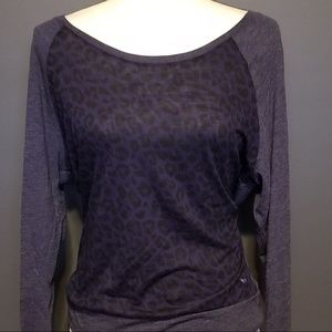 PINK Victoria's Secret Blue Animal print pullover